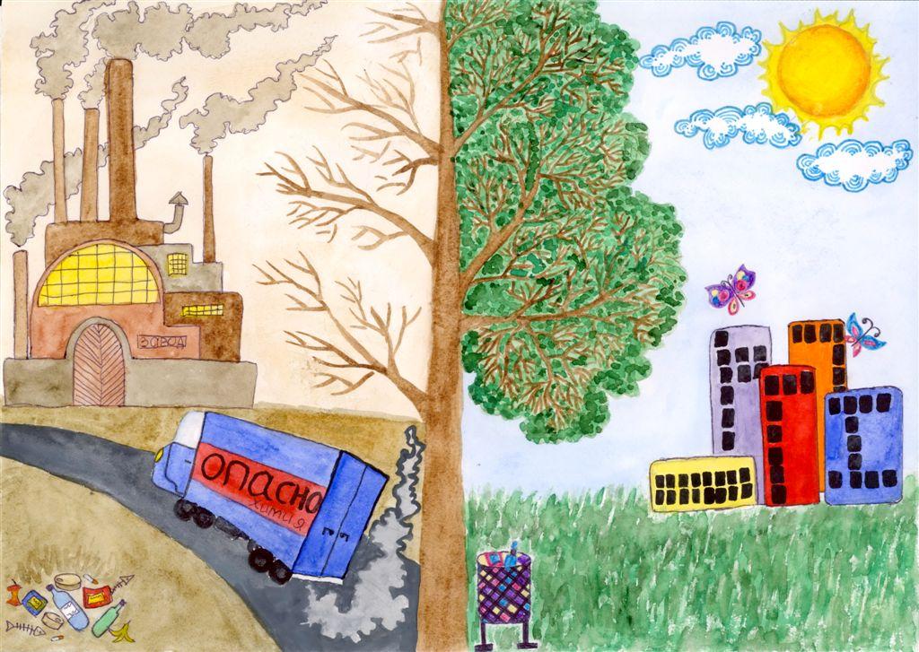 экологический постер рисунок медно-красная, откуда происходит