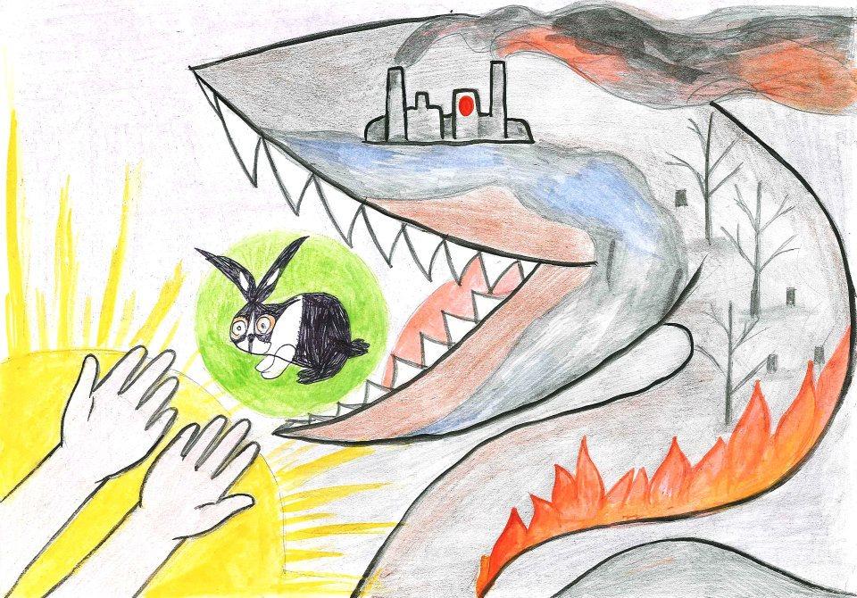 всякий рисунки картинки на тему засорение экологии давно