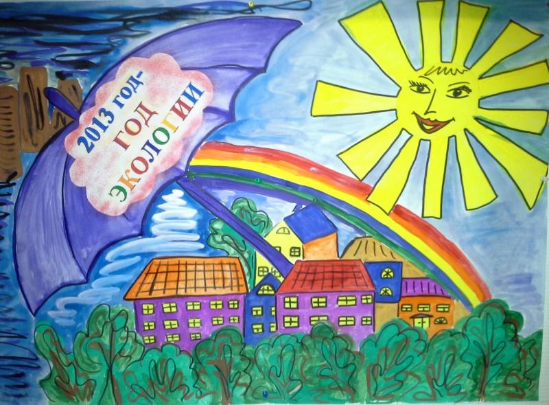плакат на тему экологии в школу настоящее время